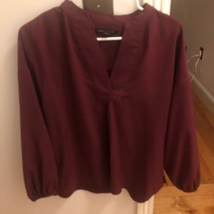 Banana republic blouse maroon